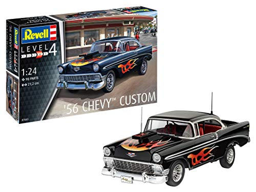 Revell GmbH Revell 07663 7663 - Kit de Modelos de plástico Chevy Personalizado, 1:24 '56