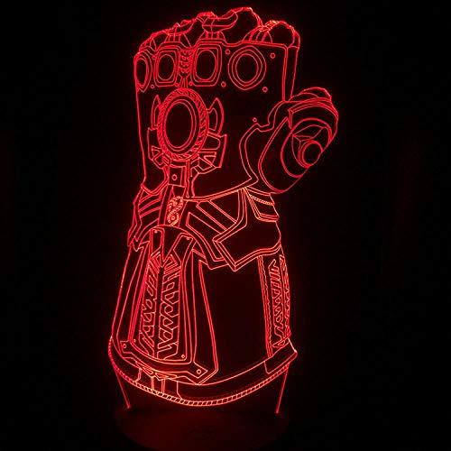 Lámpara De Ilusión 3D Night Light Colorido Smart Touch Gradient Color Led...