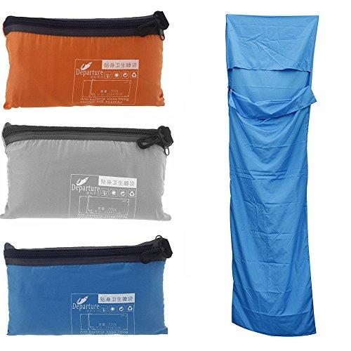 Bazaar Ultra-light tragbare Einzelschlafsack-Polyester-Rohseide Liner Mini Schlafsack für Camping-Reisen