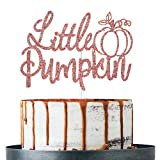 Rose Gold Little Pumpkin Cake Topper, Baby Shower, Fall Theme, Halloween, Thanksgiving Day Party Decorations