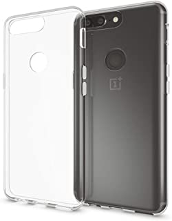 NALIA Case Compatible with OnePlus 5T, Mobile Phone Back-Cover Ultra-Thin Silicone Soft Skin Protector, Shock-Proof Crystal Clear Rubber Gel Bumper, Flexible Slim Transparent Protective Backcase