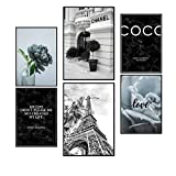 Postertech® Premium Poster (6er Set) | Poster Set Paris