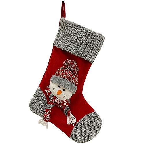 Weihnachtsdekorationen Socke Geschenk Tasche Rot Grau Alter Mann Große Weihnachtsstrümpfe Geschenke Süßigkeiten Kekse Bundle Geschenk
