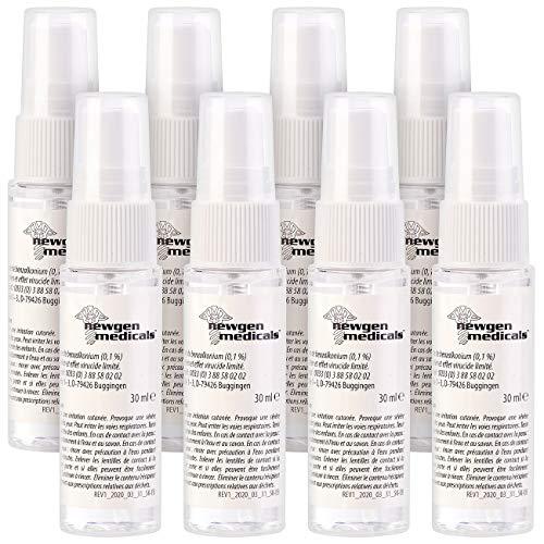 newgen medicals Desinfektion-Spray: 8er-Set Hand- & Flächen-Desinfektionsspray, alkoholfrei, je 30 ml (Desinfektionsmittel Zerstäuber)