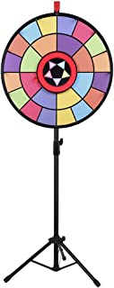 "WinSpin 24"" Floor Stand Editable Color Prize Wheel 2 Circles 2 Pointers Spinning Game Tradeshow Carnival"