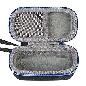 co2crea Hard Travel Case for Bose SoundSport Free Truly Wireless Sport Headphones (Black Case + Blue Zipper)