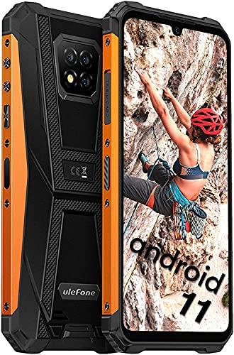 Rugged Smartphone in Offerta, Ulefone Armor 8 Pro 128GB + 6GB IP68 Cellulare, 6.1   Pollici 16MP Tripla Fotocamera Android 11 Smartphone, Batteria5580mAh 4G Cellulare Telefono Dual SIM - Arancia