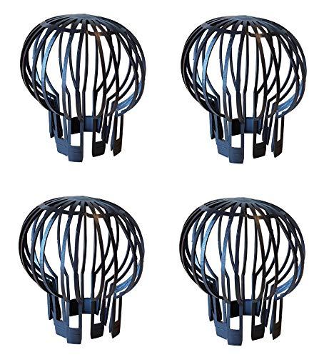 4er Set Fallrohrschutz Dachrinnenverschluss Dachrinnenschutz Verschlusskappe ca. Ø oben 13,2 unten 8,5 cm Höhe 14,5cm