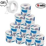 UEncounter 10 Rolls Toilet Paper 3 Layers White Soft Toilet Paper,Super Jumbo Bulk Pack Quality White Tissue for The Washroom, Kitchen or Restaurant