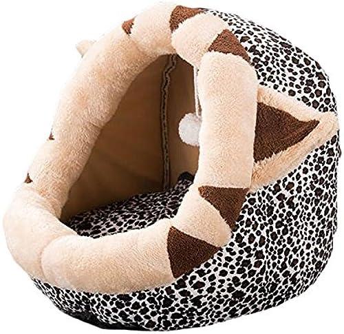 venta directa de fábrica Pet harem Nido de de de mascotas para gatos y perros pequeños Cerrado Four Seasons Suministros para mascotas universales Estilo de guepardo ( Tamaño   L )  Vuelta de 10 dias