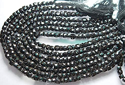 mejor opcion GEMS-WORLD BEADS GEMSTONE 10 Inches, AAA Super Super Super Finest, negro Spinel Faceted 3D Cube Briolettes, 5-6mm  Envío 100% gratuito