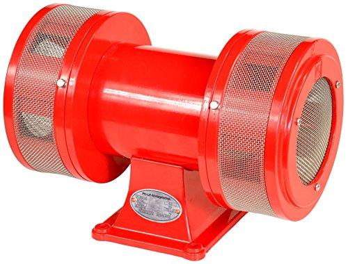 Pro-Lift-Montagetechnik 230V Sirene Elektrosirene mit Bock, extrem laut mit 123dB, rot, 01623