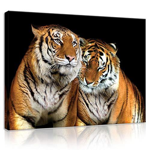 FORWALL Bilder Canvas Tiger O1 (100cm. x 75cm.) Leinwandbilder Wandbild AMFPP21403O1