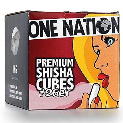 ONE NATION | 10 KG | Shisha Kohle Naturkohle aus 100% Kokosnuss - 1,5-2 Std. Brenndauer | starke Hitze | kein Eigengeschmack