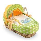 Pali 640101 Baby Körbe-Moses Basket Gigi und Lele mit Verdeck