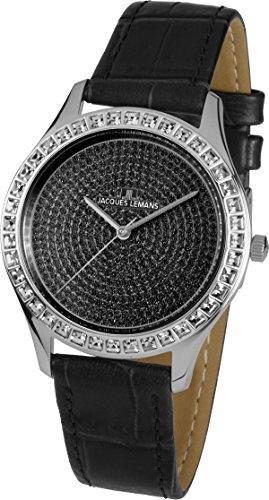 Jacques Lemans Damen Analog Quarz Uhr mit Leder Armband 1-1841ZD