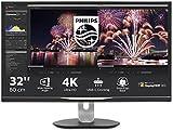 Philips 328P6VUBREB USB-C Docking Station Monitor 32', 4K LED VA, HDR 600, Ergonomia Totale, Audio Integrato, 2 HDMI, Display Port, VGA, USB-C, RJ45, 4 USB 3.0, Vesa, Nero