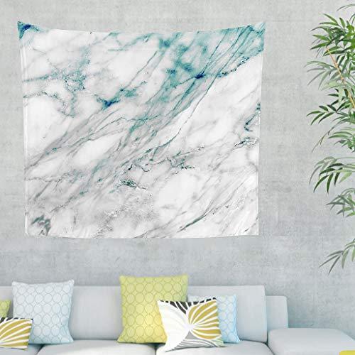 DOGCATPIG Tapestries Tapestries - Manta de pared con textura de mármol para fondo negro, color blanco, 200,7 x 149,9 cm