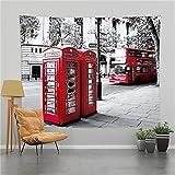 YYRAIN Calle Cabina De Teléfono Roja Tapiz Decoración De La Pared del Hogar Regalos Tapiz Pegatinas De Pared 78x59 Inch{200x150cm} A