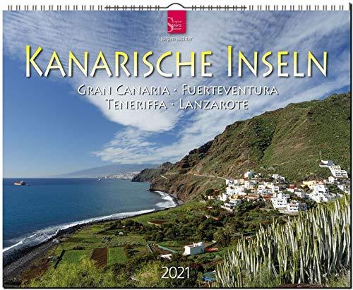 Kanarische Inseln - Gran Canaria - Fuerteventura - Teneriffa - Lanzarote: Original Stürtz-Kalender 2021 - Großformat-Kalender 60 x 48 cm