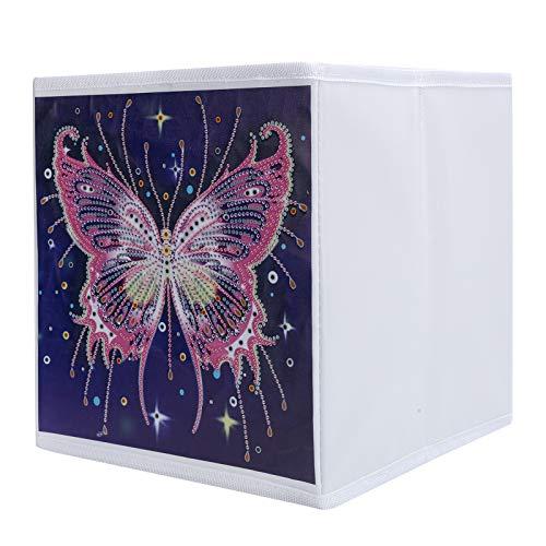 Cuadro de bricolaje, caja de pintura plegable Organizador de pintura práctico con una caja de almacenamiento para el hogar/la escuela
