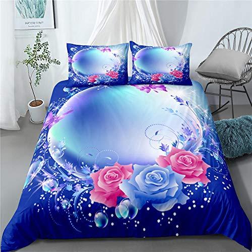 Bedclothes-Blanket Juego de sabanas Cama 90 Juveniles,Rosa 3D-4_210 × 210cm
