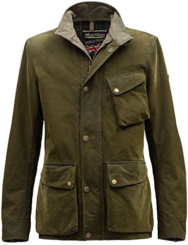 Matchless Collier Jacke, Blouson, Grün XL