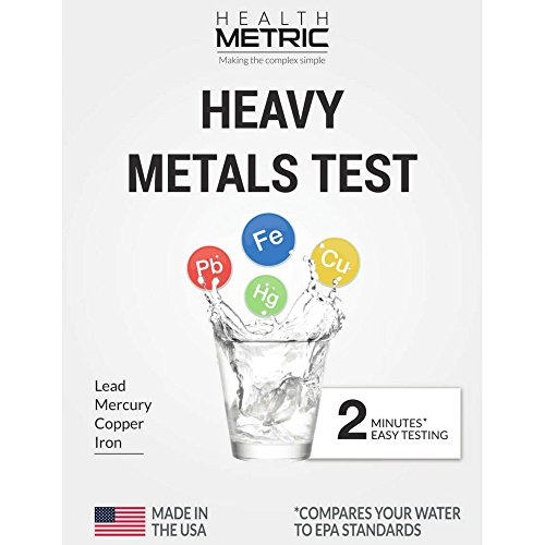 Lead Iron Copper and Mercury - Home Water Test Kit for Well Tap and Drinking Water | Fast & Accurate...