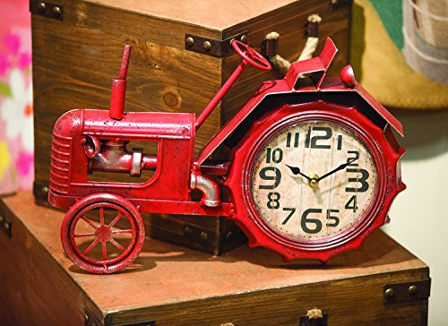 MWW Tractor Table Clock Red Each