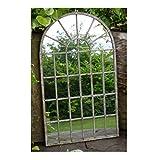 Decorative Gothic Arched Door Style Mottled Metal Garden Mirror 36x60x1cm