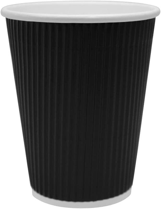 Karat C KRC512B 12 Oz Ripple Paper Hot Cup Black Case Of 500