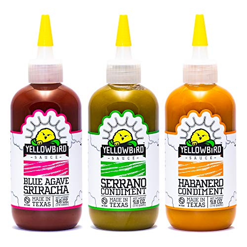 Hot Sauce Variety Pack by Yellowbird   Plant-Based, Gluten Free, Non-GMO   Homegrown in Austin   9.8 oz (3-Pack)