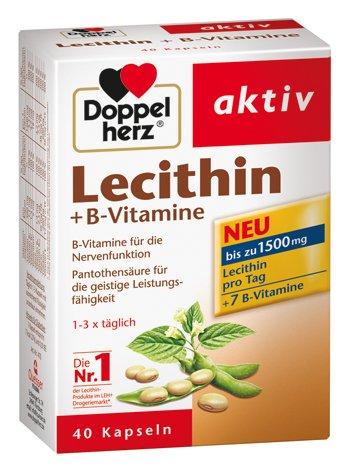Doppelherz Lecithin und B-Vitamine Kapseln, 4er Pack (4 x 40 Kapseln)
