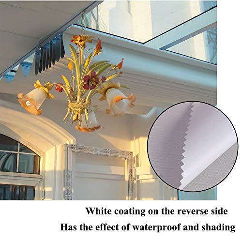 MAHFEI Retractable Roman Sail Shade Wave Roof Awning Replacement Pergola Cover Shade Cover Super Waterproof Anti-UV High Shading Rate Flax Manual Adjustment For Deck Gazebo