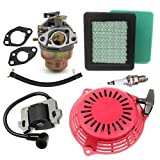 Aisen carburateur pour Honda GC160GC135gcv135GCV160Tondeuse à Gazon avec filtre à air Starter Bobine d'allumage Bougie d'allumage