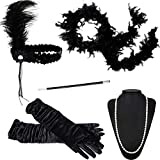 Funny Party Hats Flapper Accessories - 20s Womens Fashion Costume Dress up - 1920s Accessories (5 Piece Set)