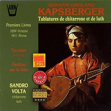 Kapsberger : Tablatures de chitarrone et de luth