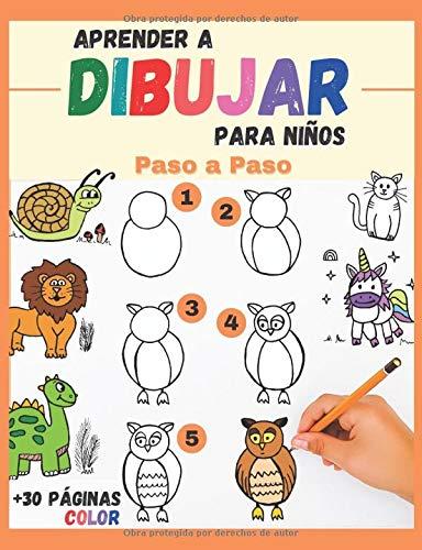 Aprender a Dibujar Para Niños Paso a Paso: lindos animales para reproducir y colorear - libro de dibujos a color para niños y principiantes - regalo original