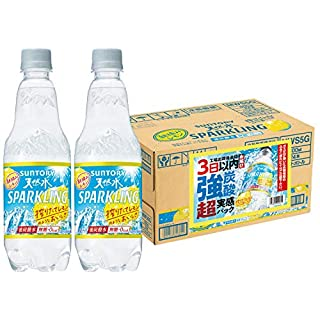 【Amazon.co.jp限定】 サントリー 天然水 スパークリングレモン 「強炭酸」超実感パック 工場出荷後最短3日お届け 炭酸水 500ml ×24本