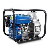 BITUXX® Benzin Schmutzwasserpumpe 3' Wasserpumpe Motorpumpe Kreiselpumpe Gartenpumpe Teichpumpe 6,5 PS 60.000l/h, max. Förderlänge 30m, 3Zoll Anschluss