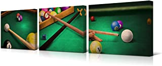 HOMEOART Billiards Pictures Play Shooting Pool Canvas Art Pictures for Pool Room Home Office Boys Room Decoration Gift 12