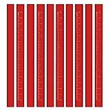 Best Carpenter Pencils - BUSHIBU Flat Premium Quality Carpenter's Pencil(Red), Medium Hard Review