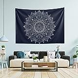N/ A Tapiz para colgar en la pared, tapiz Mandala grande de pared, tapiz de pared para dormitorio, tapices de aula, 80 x 152 cm, tela, multicolor, 60x51(in)