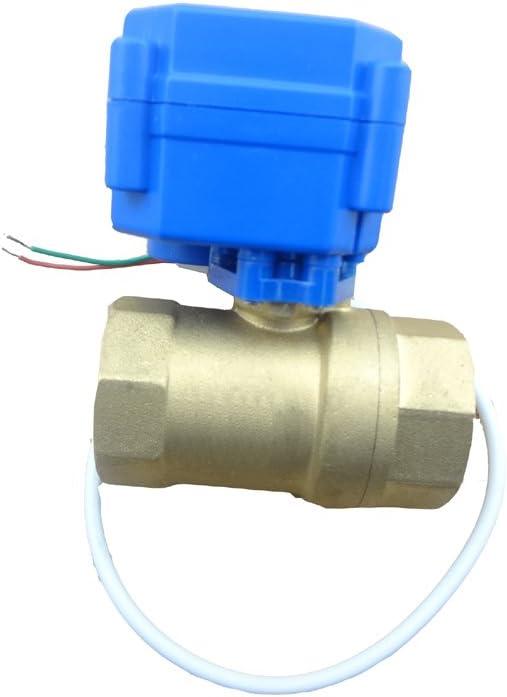1//2 inch AC220v DC24v DC12v motorized brass ball valve 3 way dn15 plumbing valve electrovalve electric valve actuator CN01 CN02 Inlet Voltage : DC12v, Wiring Control : CR01