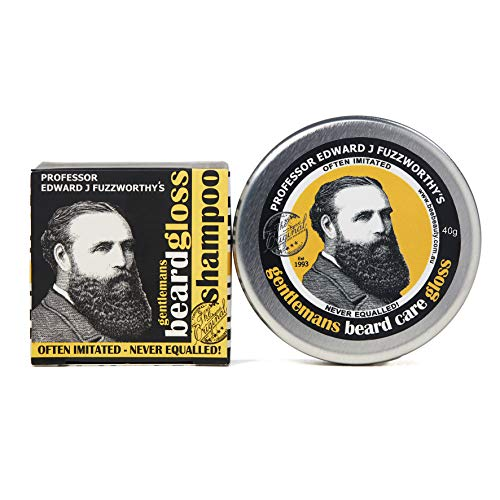 Professor Fuzzworthy Beard Care Kit | Beard Shampoo + Beard Gloss | 100% Natural