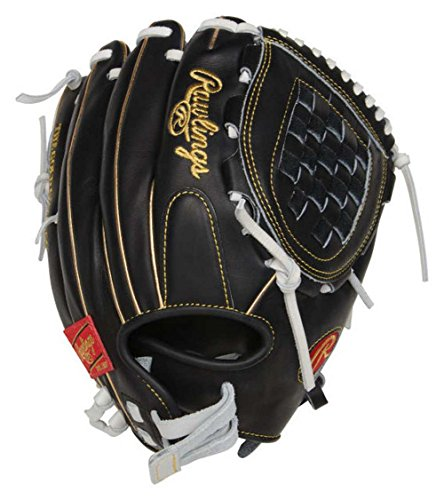 Rawlings Heart of The Hide Fastpitch Softball First Base Glove, 13 inch, Right Hand Throw, Black/White, 13, PROFM19SB-17BW
