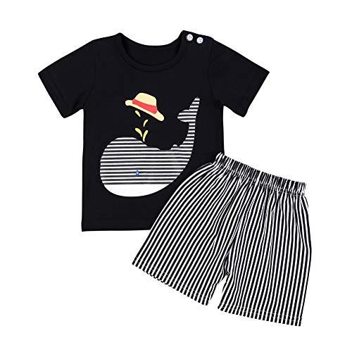 Gyratedream Baby Jongens Zomer Kleding Set Meisjes T-Shirt Korte Mouwen Topjes Dolfijn Patroon Vest + Shorts Korte Broek 2 Stks Outfits voor 0-5 Jaar Kinderen