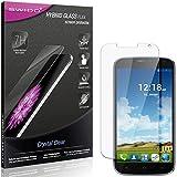SWIDO Panzerglas Schutzfolie kompatibel mit Haier Phone W867 Bildschirmschutz-Folie & Glas = biegsames HYBRIDGLAS, splitterfrei, Anti-Fingerprint KLAR - HD-Clear