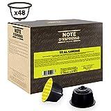 Note d'Espresso - Cápsulas de Té al Limón compatibles con cafeteras Dolce Gusto , 48 unidades de 12g, Total: 576 g