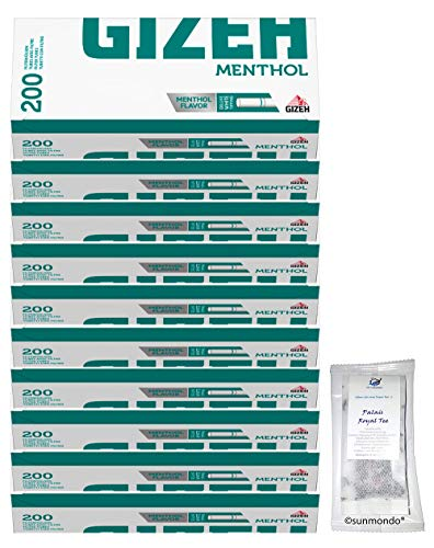 Sunmondo Gizeh Menthol Filterhülsen (10x 200er Box)